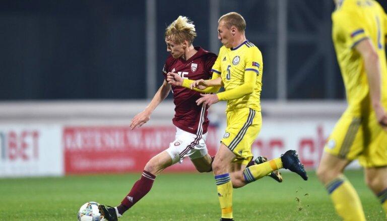 Latvijas futbola izlase UEFA Nāciju līgas mačā nospēlē neizšķirti ar Kazahstānu