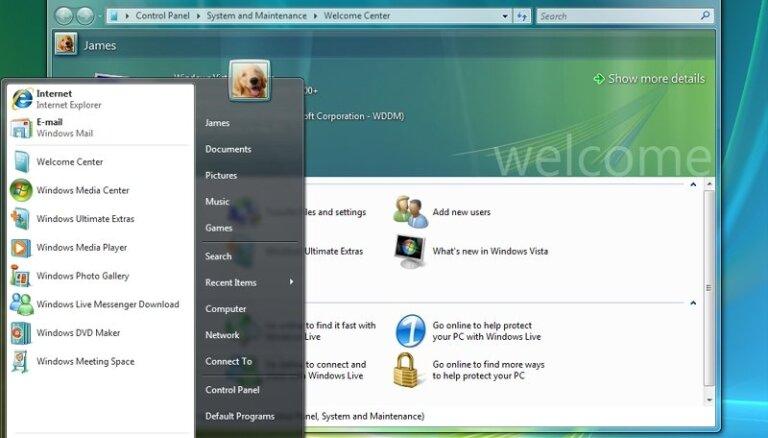 Atvadas no lielās izgāšanās: 'Microsoft' pārtrauc 'Windows Vista' atbalstu