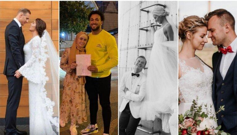 Pandēmijas gads smalko aprindu dzīvē: 26 pāri, kas apprecējās