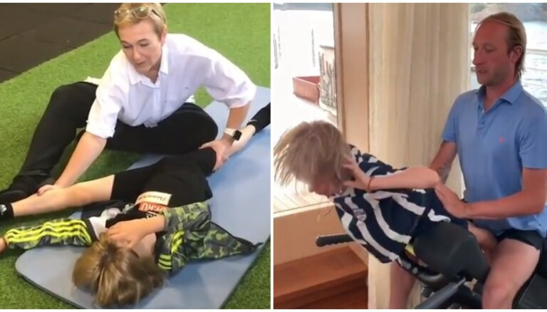 Bērna mocīšana panākumu vārdā: krievi nosoda Pļuščenko dēla treniņu režīmu