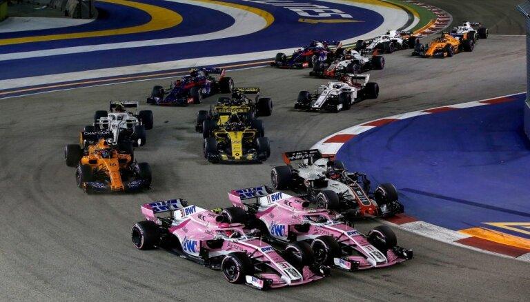 'Force India' pilotiem aizliedz savstarpējās cīņas trasē