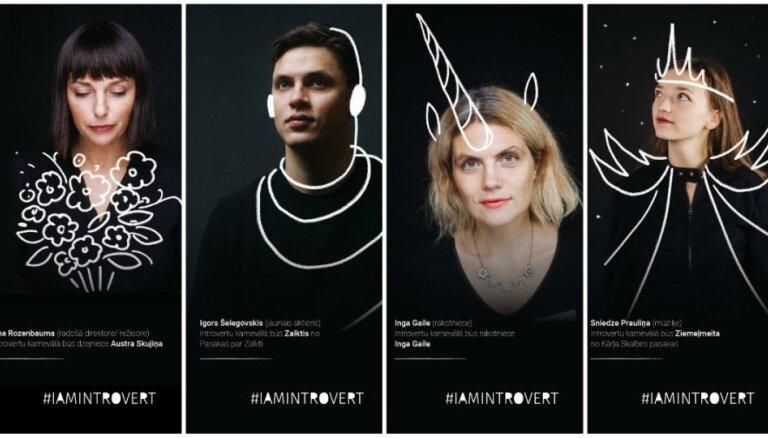 Foto: Introvertu karnevāls aicina iejusties latviešu literātu un grāmatu varoņu tēlos