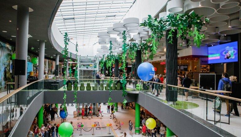 Foto: Ieguldot 36 miljonus eiro paplašināšanā, atklāts Igaunijā lielākais tirdzniecības centrs