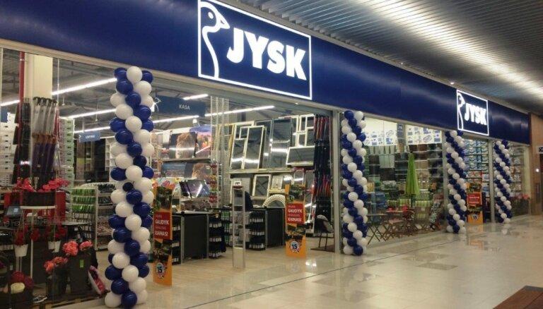 Снизился оборот сети магазинов Jysk в Латвии