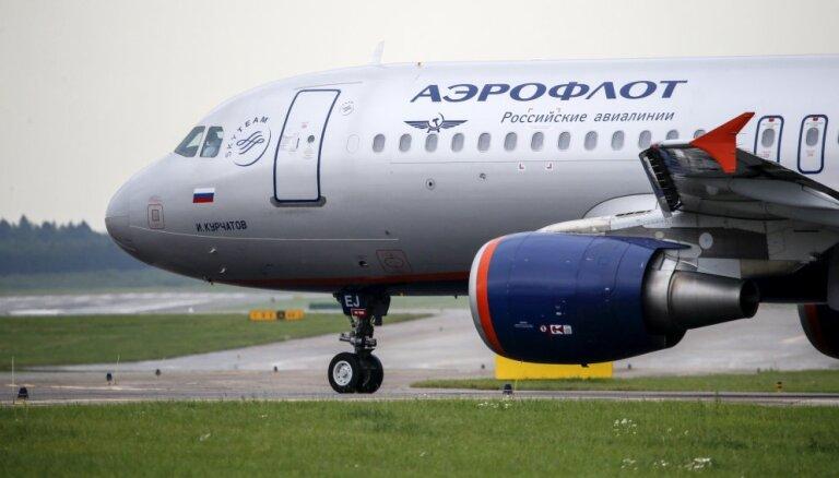 Dota atļauja otrdien no Rīgas lidostas izlidot 'Aeroflot' reisam uz Maskavu
