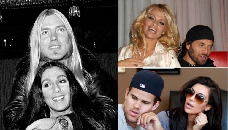 Top 10: Īsākās laulības pasaules šovbiznesā