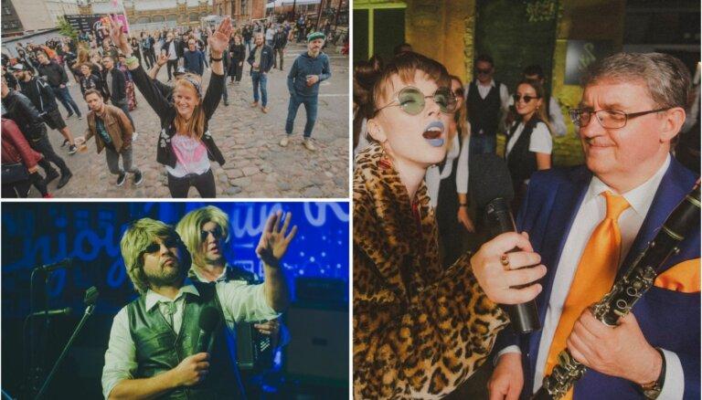 Foto: Pagalmā Matīsa ielā lustīgi aizvadīts pirmais 'Enkurfests'