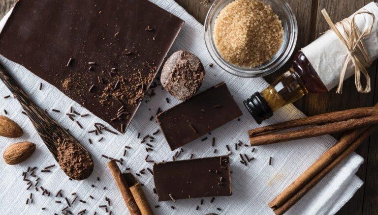 Kārdinošs deserta noformējums - servējamā bļodiņa no šokolādes