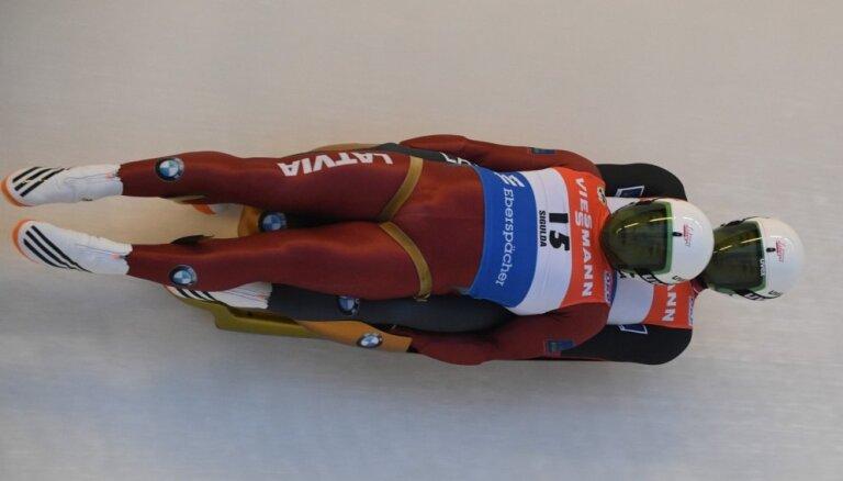 Gudramovičs/Kalniņš piektie PK posmā Altenbergā; Aparjods un Kivlenieks iekļūst TOP10 vīru sacenībās