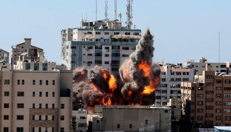 Израиль разрушил в Газе башню, в которой размещались бюро иностранных СМИ