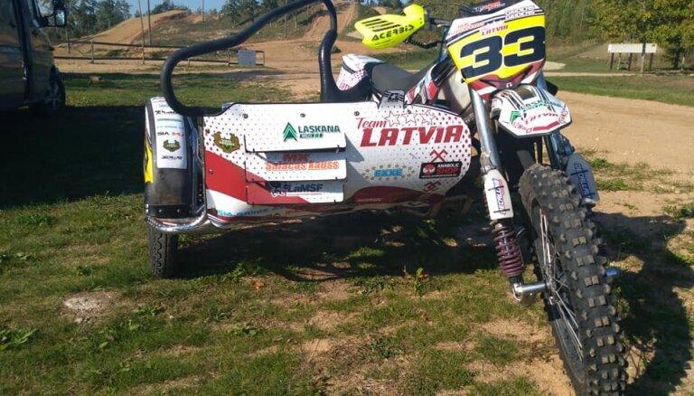 Latvijas blakusvāģu motokrosa izlase ieņem otro vietu Nāciju kausa kvalifikācijā