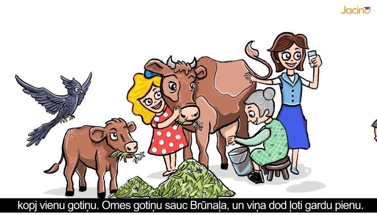 Ar jaunu animācijas filmu aicina bērnus uzzināt, kur rodas piens