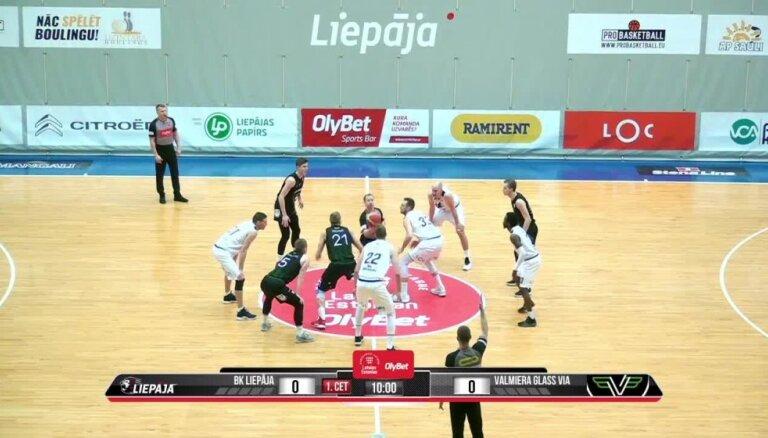 'OlyBet' basketbola līga: 'Liepāja' - 'Valmiera glass/ViA'. Pilns ieraksts