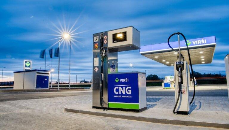 Foto: Atklāta pirmā CNG jeb saspiestās dabasgāzes stacija Latvijā