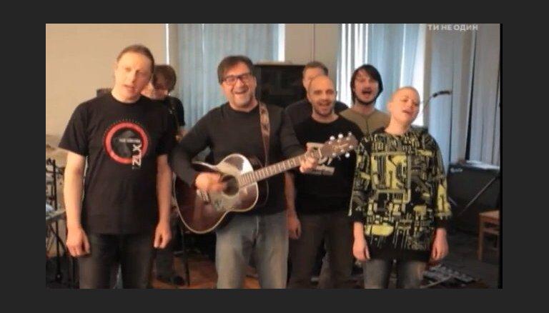 ВИДЕО: Российские рок-музыканты призвали к миру между Россией и Украиной