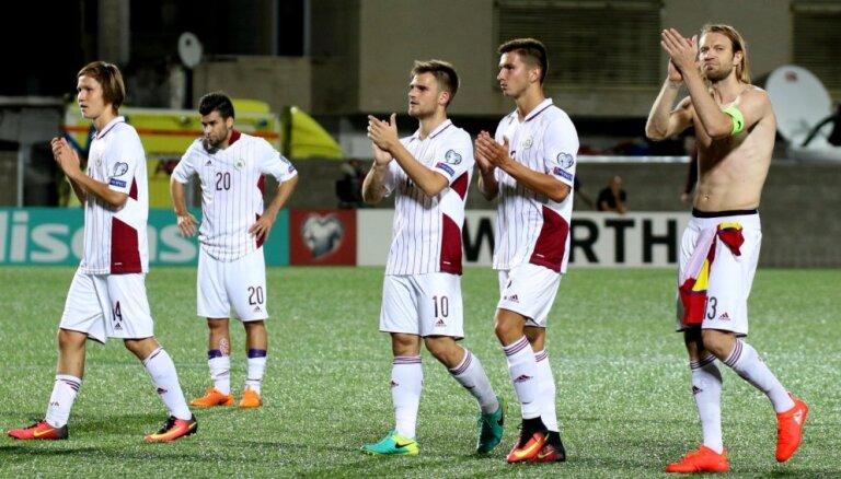 Через полгода Латвия вернулась в сотню рейтинга ФИФА