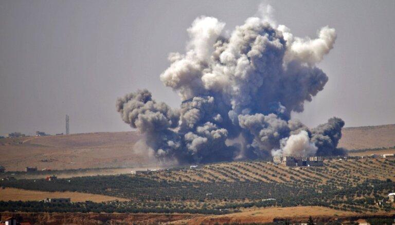 ASV vadītā koalīcija bombardē 'Daesh' pozīcijas Sīrijā