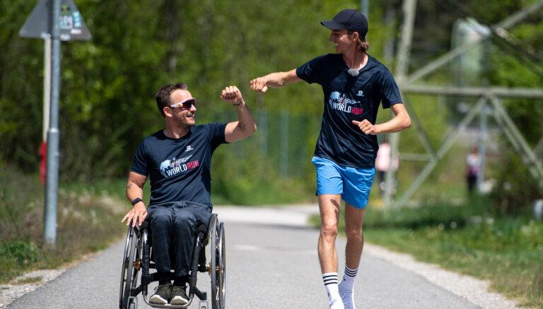 Jonass un Ikauniece palīdz sasniegt 'Wings for Life World Run' labdarības skrējiena rekordu