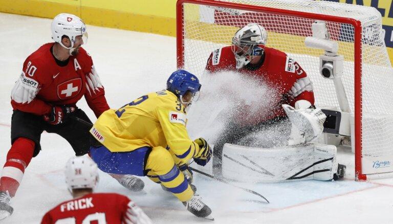 Video: Šveice lieliskā spēlē pret Zviedriju piedzīvo pirmo zaudējumu PČ