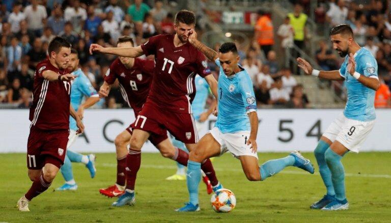 Сборная Латвии забила первый мяч за семь месяцев, но в матче с Израилем он не помог