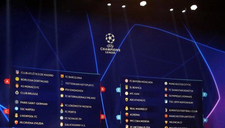 Состоялась жеребьевка группового этапа футбольной Лиги чемпионов