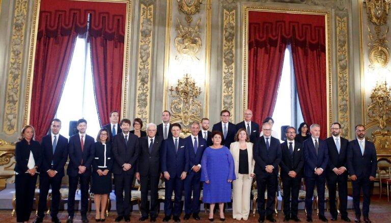 Jaunā Itālijas valdība nodevusi zvērestu