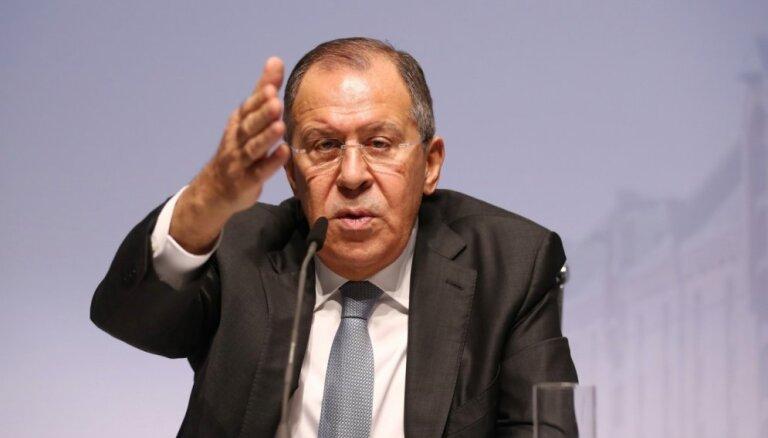 Skripaļa saindēšana varētu būt izdevīga Lielbritānijai, uzskata Lavrovs