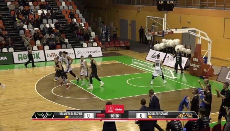 'OlyBet' basketbola līga: 'Valmiera glass/ViA' - 'Kalev/Cramo'. Spēles labākie momenti (10.11.2018.)