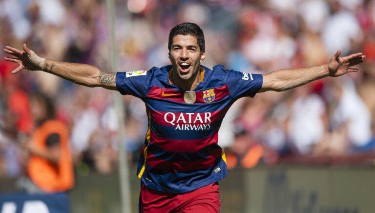 """Суарес принес """"Барселоне"""" 24-й титул чемпиона Испании, Роналду вошел в историю"""