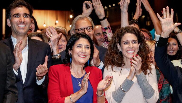 Выборы в Грузии: Саломе Зурабишвили одерживает победу