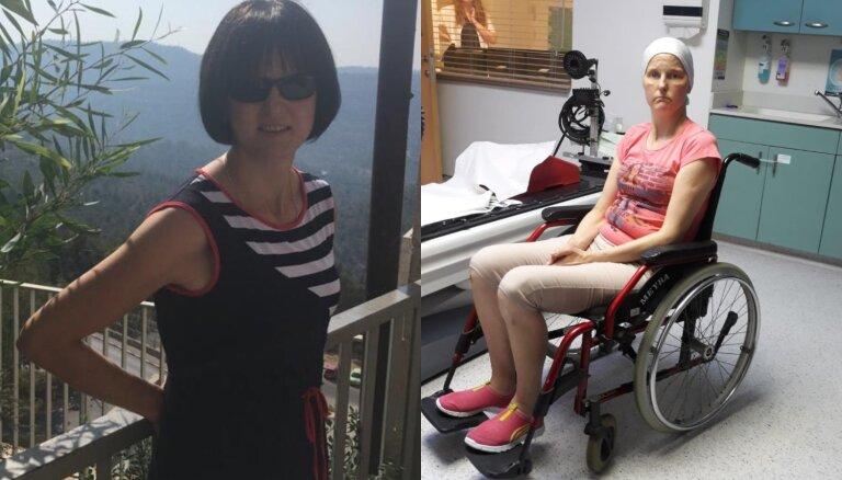 Mirusi vēža paciente Solvita, kuras ārstēšanai ziedoja līdzcilvēki