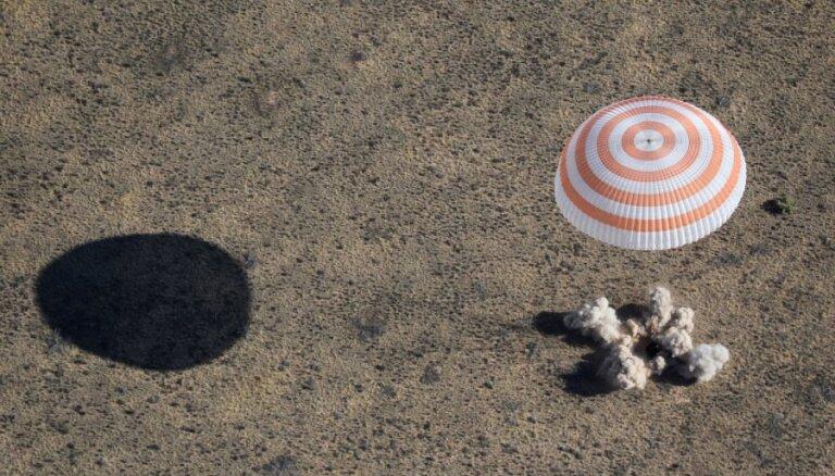 Экипаж МКС благополучно приземлился в Казахстане