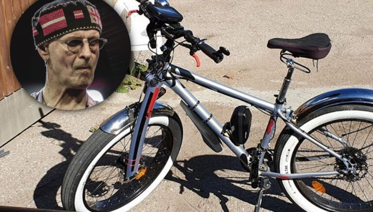 Garnadži nozaguši Ainara Virgas velosipēdu 'resnulīti'