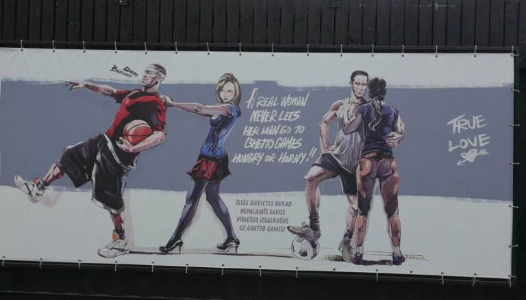 'Inteliģentie huligāni' – soctīklotāji nikni kritizē 'Ghetto Games' seksistiskos plakātus