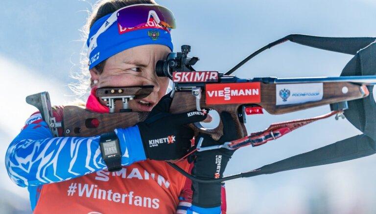 Российская биатлонистка впервые за два года взяла медаль на этапе Кубка мира