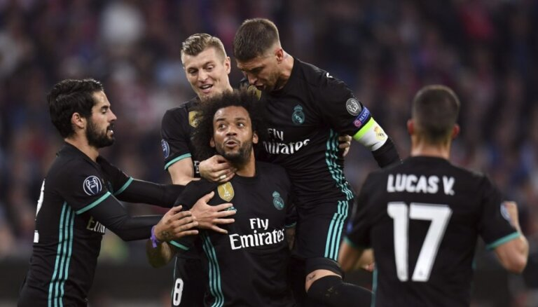 'Real' UEFA Čempionu līgas pirmajā pusfināla mačā pārspēj traumu mākto 'Bayern'