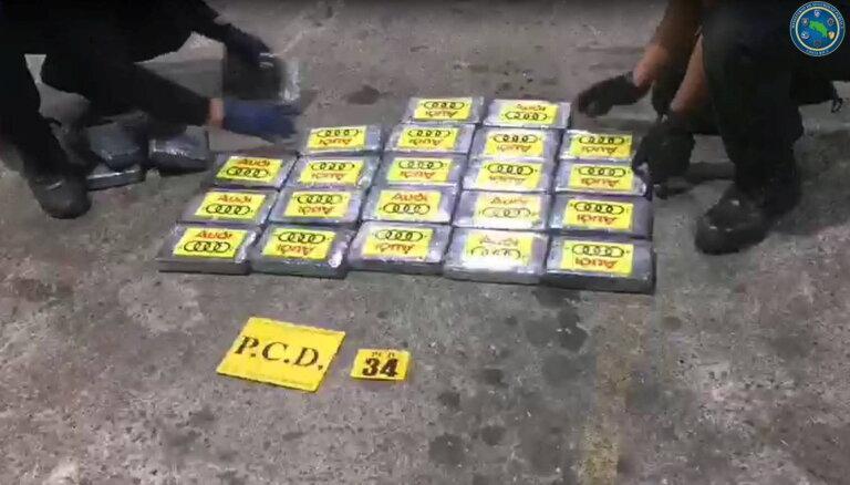 Kostarikā pārtver 4,3 tonnas lielu Kolumbijas kokaīna kravu