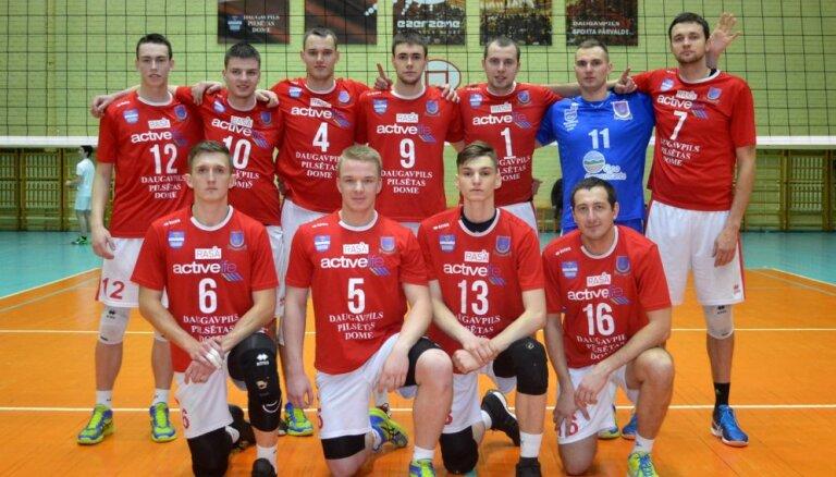 'Daugavpils Universitāte' piecu setu cīņā pārtrauc 'Lūšu' desmit uzvaru sēriju volejbola meistarlīgā