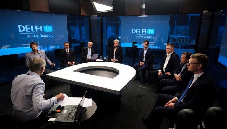"""""""Delfi TV с Янисом Домбурсом"""": сегодня дискуссия """"Что (не) изменится в Риге после смены власти?"""""""