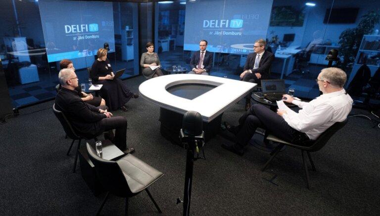 'Delfi TV ar Jāni Domburu' diskutē mediķi un politiķi. Pilns ieraksts