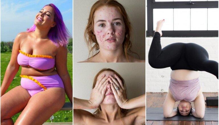 Spītējot skaistuma standartiem. Sešas sievietes 'Instagram' bezbailīgi atklāj savu ķermeni