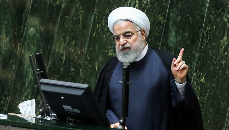 Irānas prezidents gandarīts par 'tirāna' Trampa ēras beigām