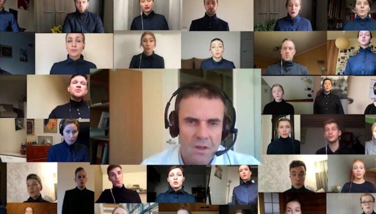 Латвийский хор Мaska совместил советы по Covid-19 c ангельским пением