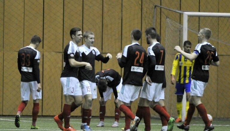 Dāvja Ikaunieka gūtie vārti 'Liepājas' futbolistiem atnes uzvaru Ziemas kausa finālā