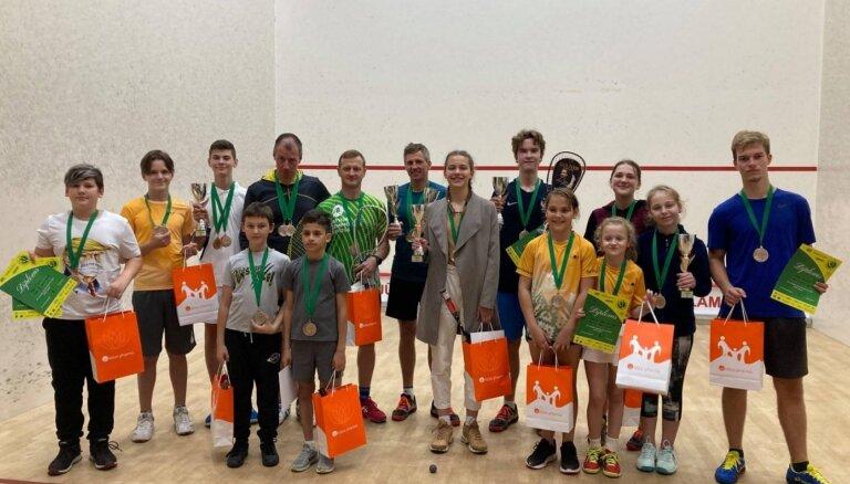 Noskaidroti 2020. gada Latvijas čempioni skvošā junioriem un senioriem