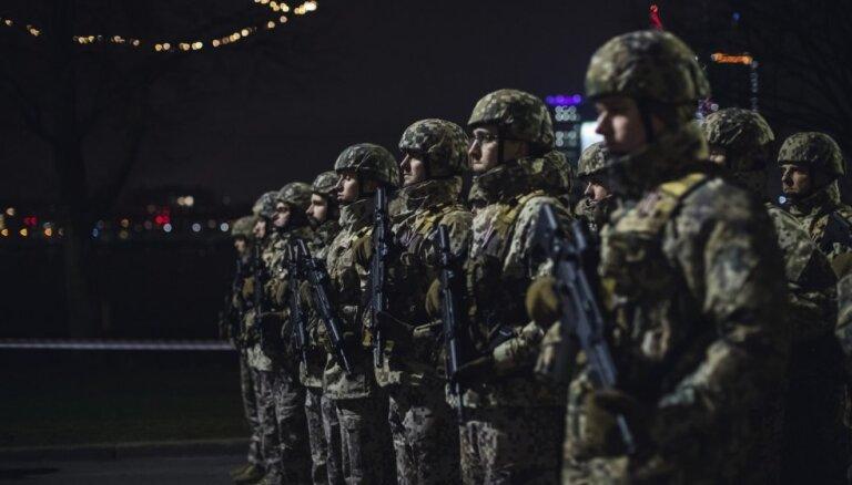 Foto: 18. novembra parādes ģenerālmēģinājums