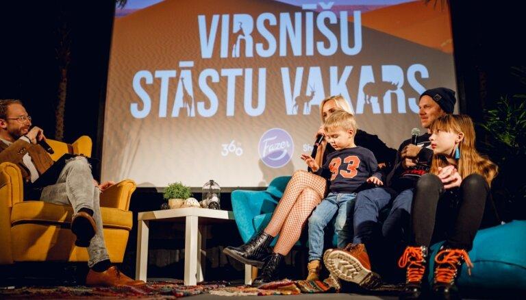 Foto: Simtiem cilvēku Tallinas kvartālā klausās Virsnīšu ģimenes Āfrikas sāgu