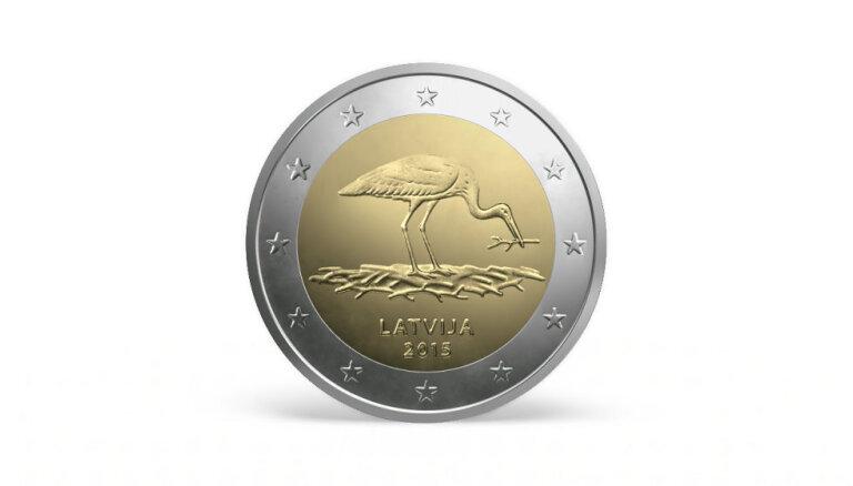 LB laidīs apgrozībā piemiņas monētu ar stārķa attēlu