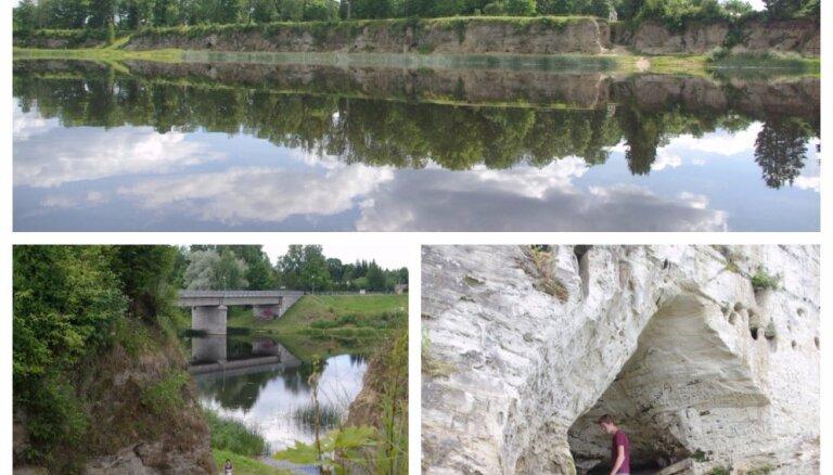 Fantastiski skaistas alas un klintis netālu no Pērnavas jeb Pelde pie Tori Elles Igaunijā