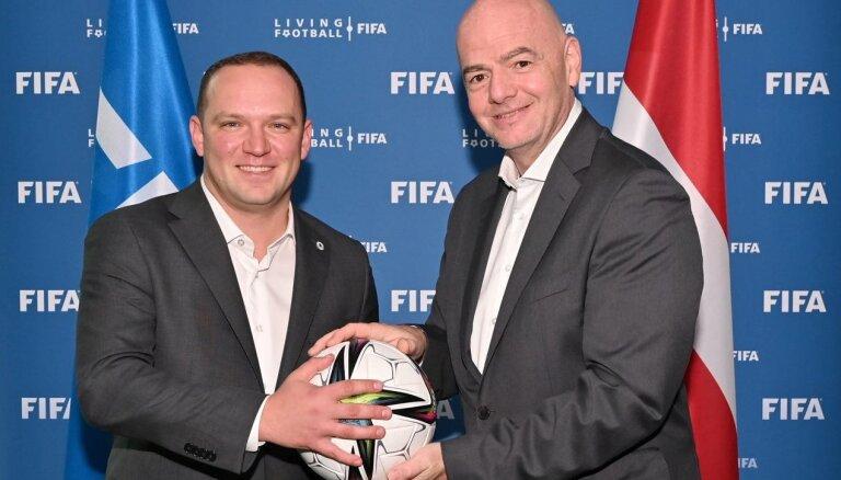 FIFA prezidents šonedēļ viesosies Latvijā
